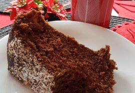 Ciasto kakaowo – cynamonowe z jabłkami