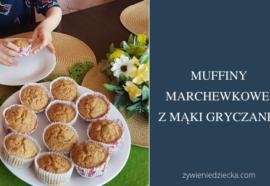 Muffiny marchewkowe z mąki gryczanej